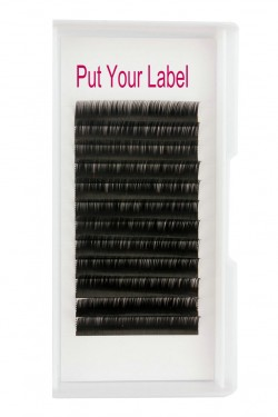 Russian Volume 0.12 eyelash extensions manufacturer B Curl Mix Length