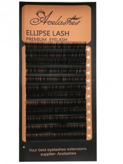 Synthetic Individual Eyelashes Ellipse Silk Lashes thickness 0.10-0.25mm