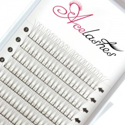 Wholesale volume fan lashes factory C curl 13mm