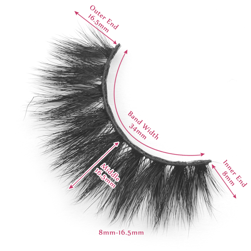 16.5mm lashes